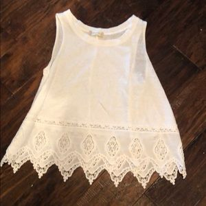 White Altard State top with croquette details